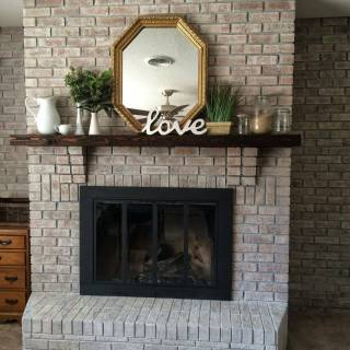 Cobblestone Fireplace Lovely White Washing Brick with Gray Beige Walking with Dancers