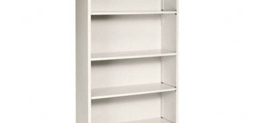 Cool Shelves Lovely Hon 6 Shelf Steel Bookcase 81 Inch Putty
