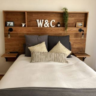 Diy Headboards Fresh Love This Wooden Headboard with Shelves My Husband Made for