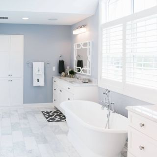 Marble Bathrooms Beautiful Stunning Master Bathroom with Marble Flooring Gorgeous