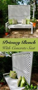 Outside Beds Beautiful Outdoor Privacy Bench with Concrete Seat