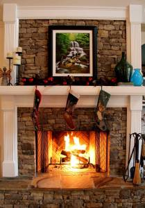 Stone for Fireplace Unique Like the Stone & White Molding