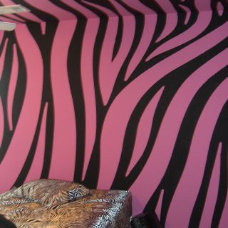 Wallpaper Vs Paint Fresh Super Cool Pink and Black Zebra Walls Painted by Chris W