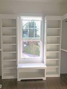 Window Seat Inspirational Custom Paint Grade Closet with Double Hanging Single