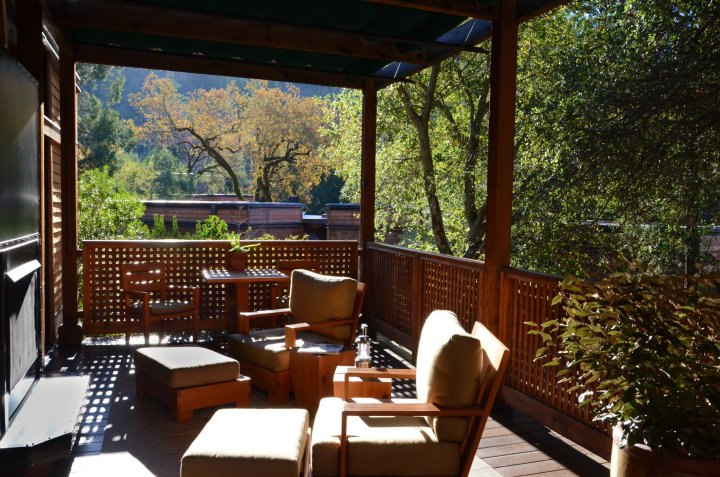 Private Outdoor Deck with Fireplace