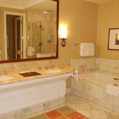 Large marbled bathroom