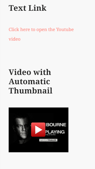 screenshot showing how a YouTube video thumbnail looks in a mobile device