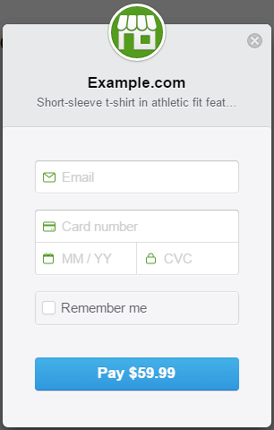 screenshot of stripe checkout demo