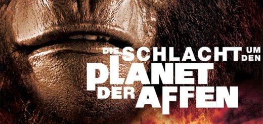 """Plakat von """"Die Schlacht um den Planet der Affen"""""""