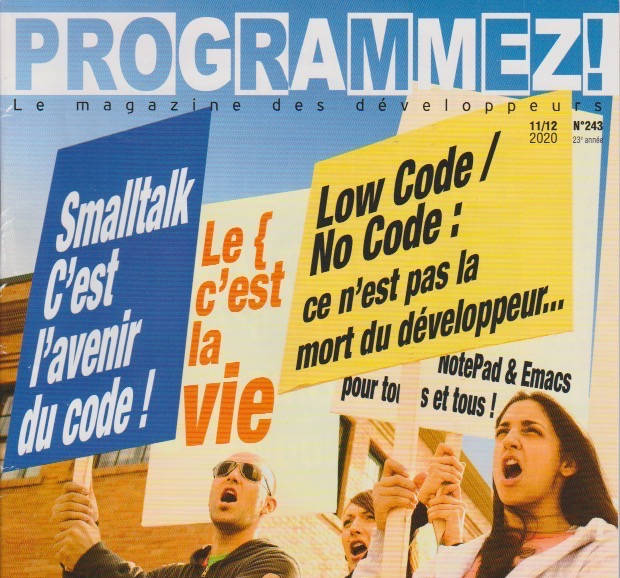 Smalltalk on the Cover of issue of november of Progammez! Magazine