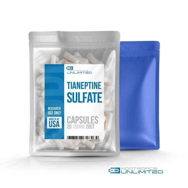 Tianeptine Sulfate Capsules 100mg 20ct
