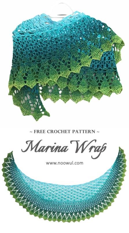 Marina Wrap | Free Crochet Pattern on Noowul