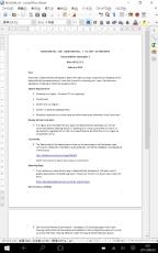 LibreOffice on Windows10 タブレットモード