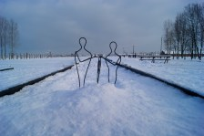 Where the tracks stop in Birkenau