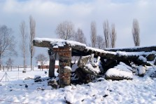 Destroyed crematorium