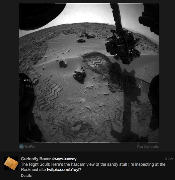 NASA's social media team brings life to Curiosity.