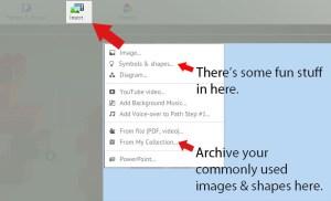 How to use Prezi insert tab LyndalCairns