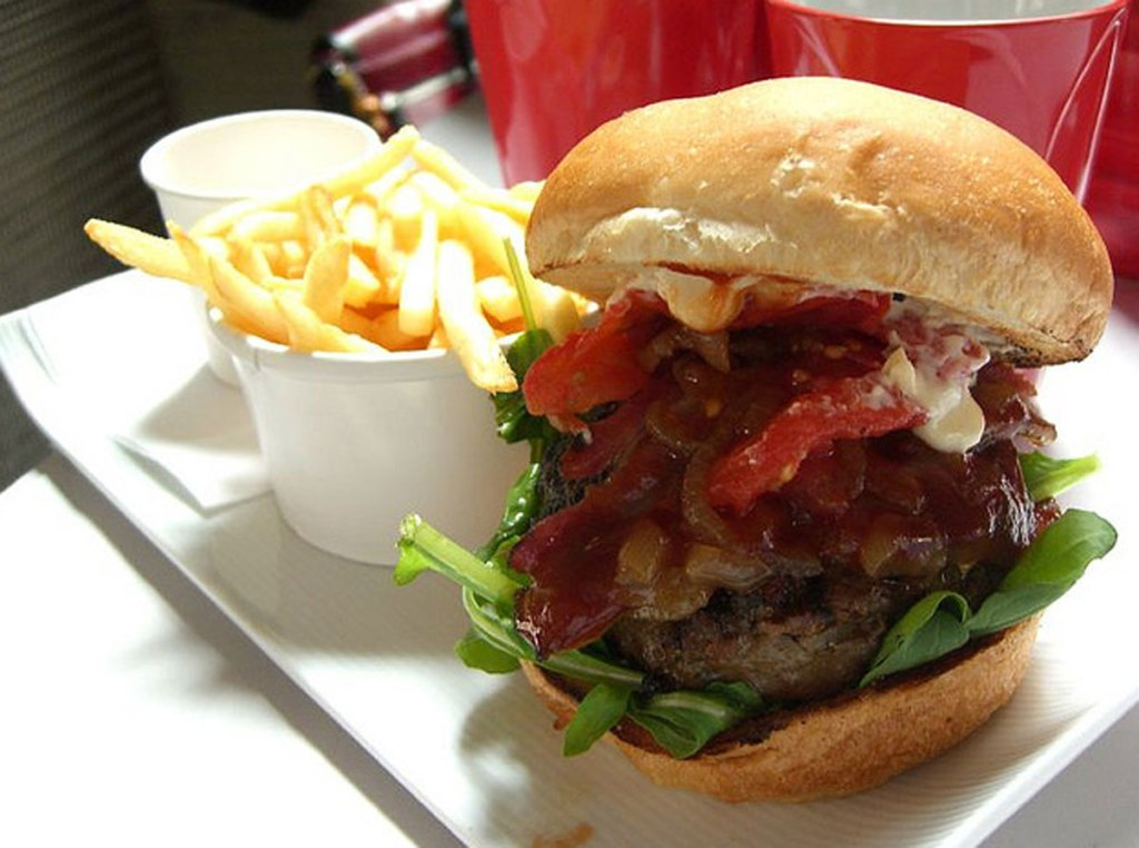 The not-so-humble hamburger. Photo: Alpha CC.