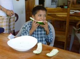 Champion watermelon eater,Playa Gigante, Nicaragua