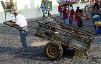 man with a cart - Antigua