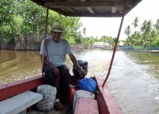 Our captain - leaving Monterico,Guatemala