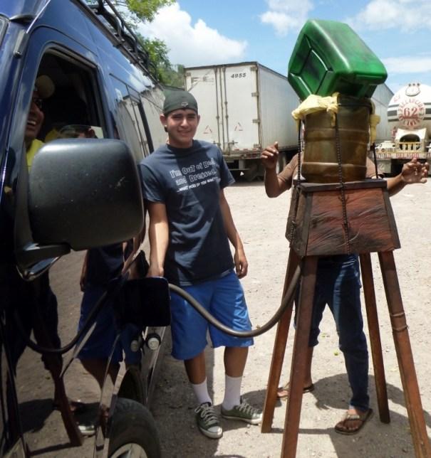 Bootleg cheap diesel for sale! Somewhere in Honduras...