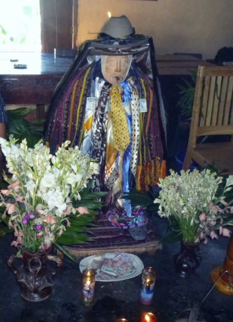 Shrine of Saint Maximon - sans arms and legs - Santiago Atitlan,Guatemala