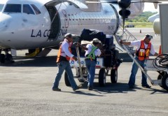 Loading the bags - small airline to Big Corn Island - Managua