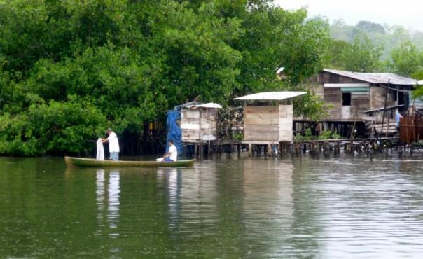 fishing by the docks Almirante,Panama