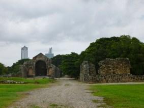 the ruins of 16th century Panama Viejo