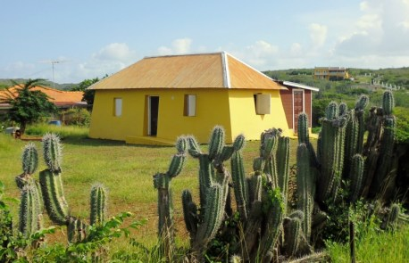 Kunuku house - traditional style house of slaves with cactus fence
