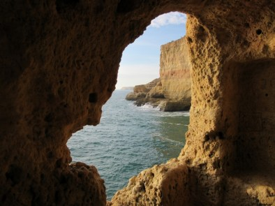 opening in cliffs, Carvoeira, Portugal