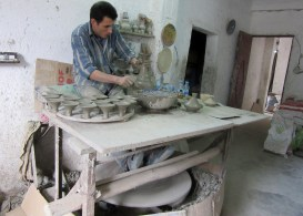 Potter making tagines. Fez, Morocco.