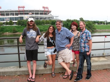 Aunt Leigh visiting us in Nashville, 2013