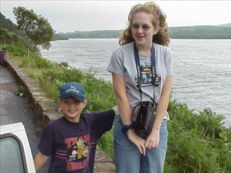 Even standing in front of Loch Ness, on the most exciting trip I'd ever been on, you can see how tense I was. Why? What was going on in my brain?