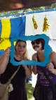 We stumbled upon a Swedish heritage festival, and since I apparently have Scandanavian in me, we had to take a picture!