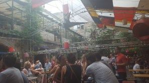 """Inside Szimpla Kert (though """"inside"""" might be relative...)"""