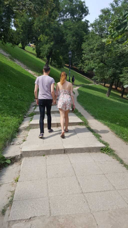 Picture 3: The couple and the official path