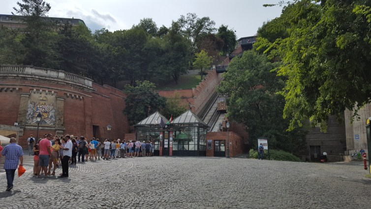 Picture 1: The line for the little train