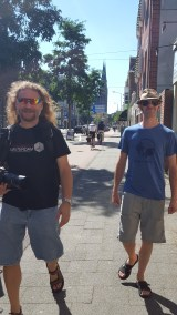 Walking around the Hague with our friend Kevin
