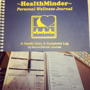 It only took a week or so to get into the HealthMinder habit