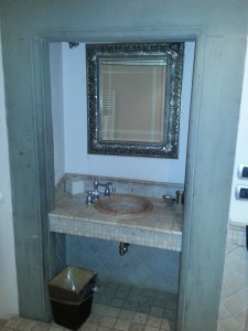 Sink pod.  With tiles and random water pressure.