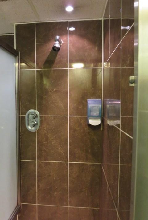 Non-plastic shower.