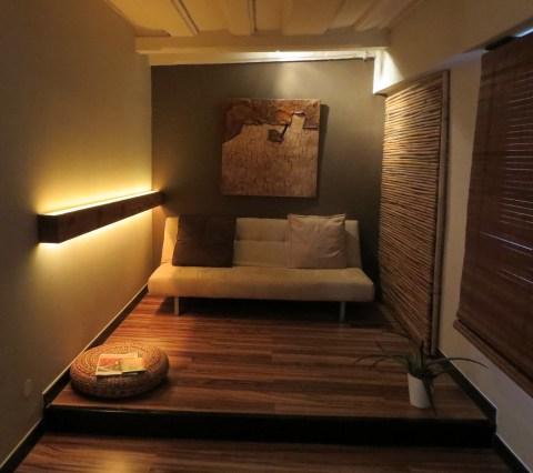 Earth anteroom (cozy and dark).