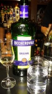 Becherovka is a cinnamon bitters from the Czech Republic