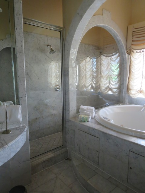 This shower no plastic has.