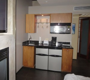 The kitchenette in 12