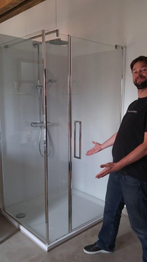 The non-plastic shower