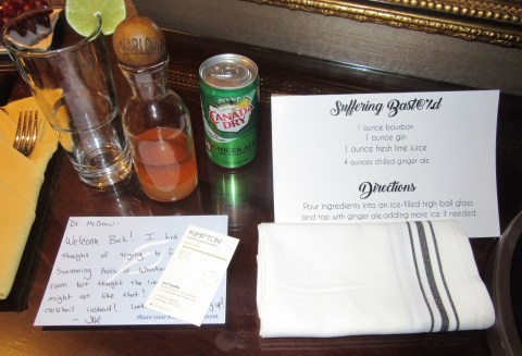 Amenity in the presidential suite