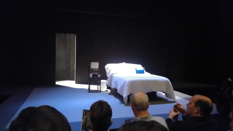 Stage set at Studio Theatre for The Hard Problem